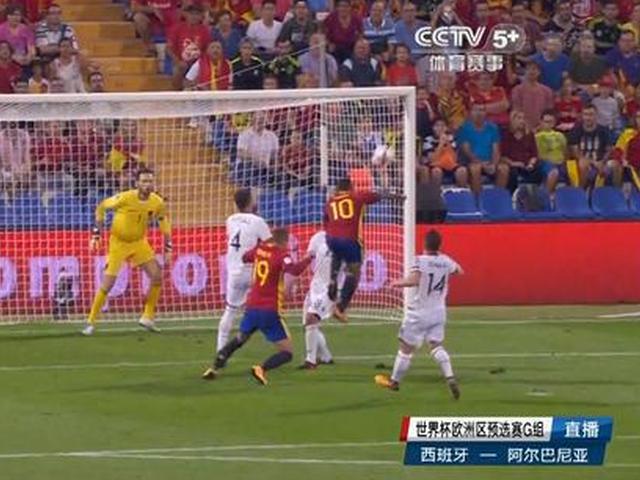 进球视频-西班牙小将首秀送助攻 蒂亚戈头球冲顶破门