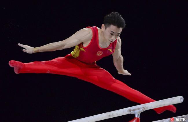 第三金!体操世锦赛邹敬园双杠加冕 林超攀第五