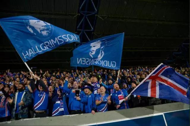 幸福的冰岛球迷
