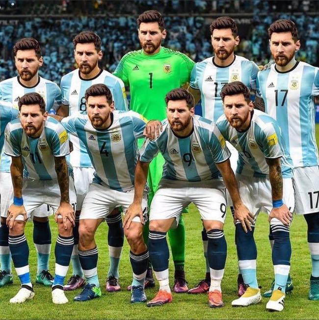 此时此刻 我仿佛看到梅西=整支阿根廷队