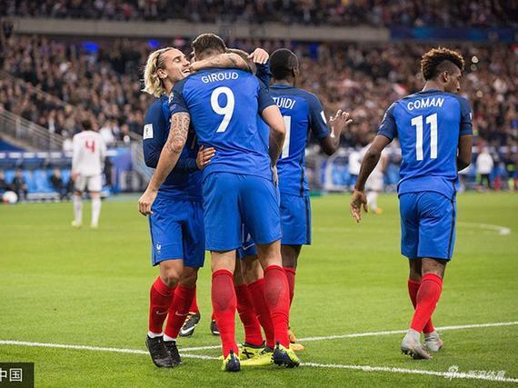 法国2-1头名出线