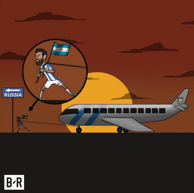 梅西拉着阿根廷前进