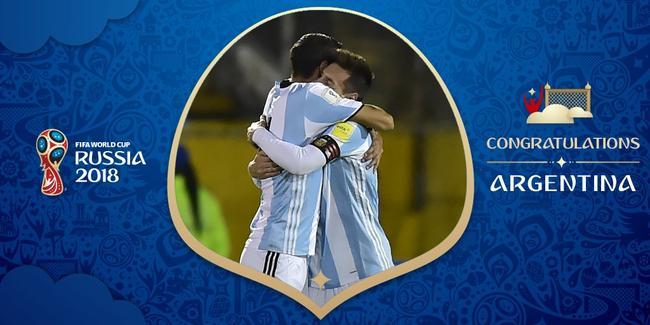 梅西帽子戏法率阿根廷出线