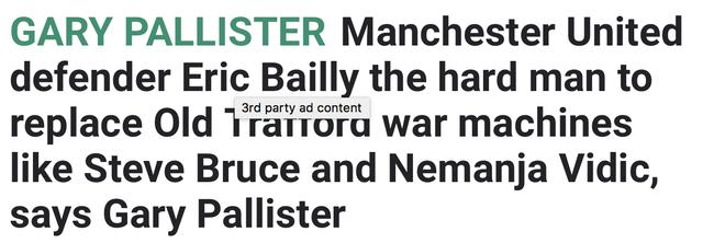 太阳报:拜利是新的战争机器