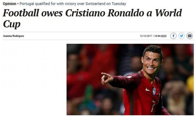 马卡报文章:足球欠C罗一座世界杯