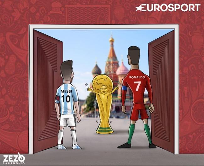 国家英雄不只有梅西 C罗也一样扛着葡萄牙|gif