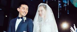 吴敏霞婚礼现场如海底世界