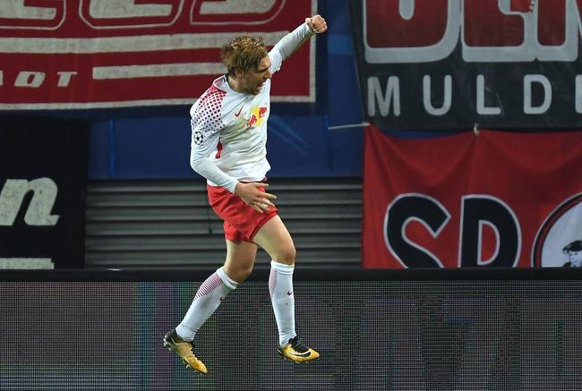 欧冠-莱比锡3-2力夺史上首胜
