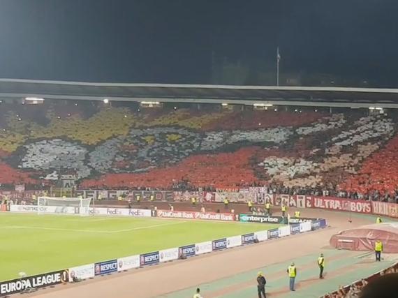视频-塞尔维亚版国骂 红星球迷齐呼:F**K阿森纳