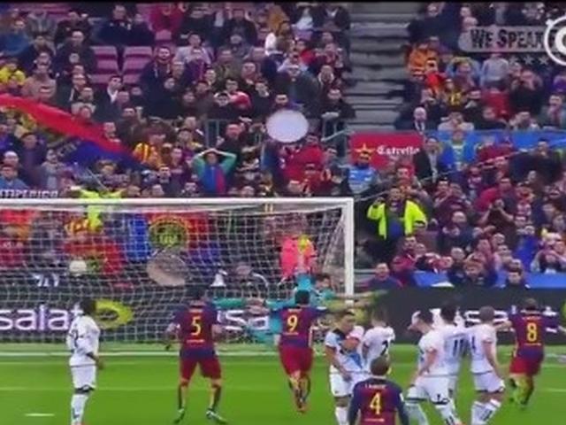 视频-迷人而致命的圆月弯刀 梅西精彩任意球破门回顾