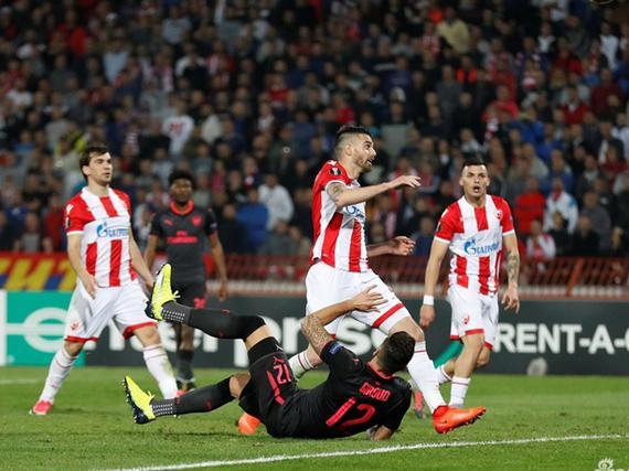视频录播-欧联小组赛 贝尔格莱德红星VS阿森纳下半场