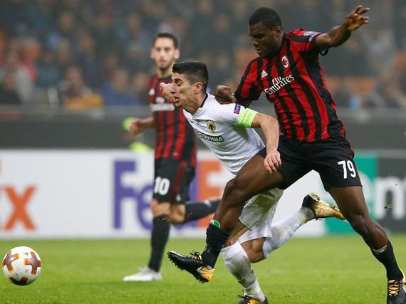 视频集锦-机会寥寥破门乏术 AC米兰主场闷平雅典AEK