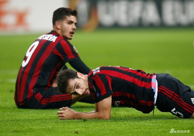 对阵雅典AEK AC米兰球员满是无奈