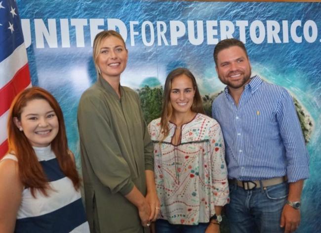 莎娃与普伊格抵达波多黎各 探望当地飓风受灾居民