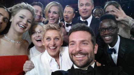 好莱坞著名自拍照