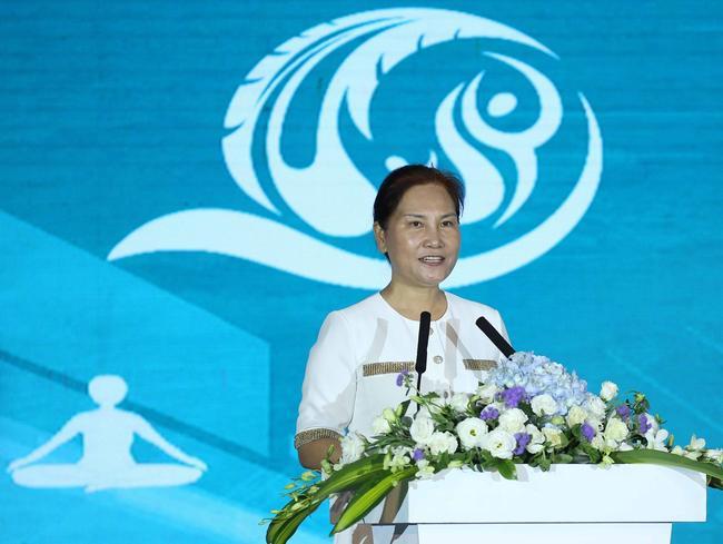 三亚市人民政府副市长许振凌在开幕式上致辞