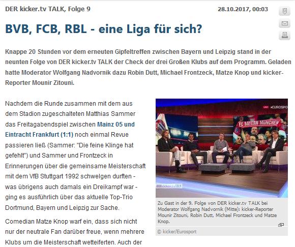 德国媒体讨论德甲三队争冠