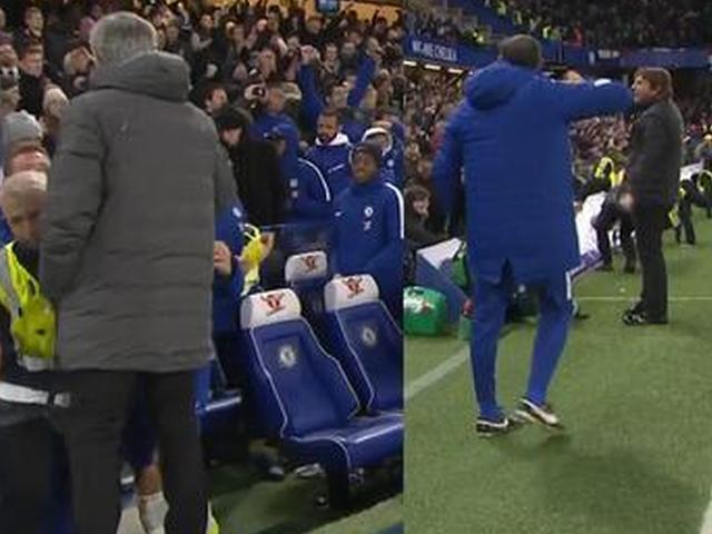 视频-赛后孔蒂振臂高呼 不与穆里尼奥握手