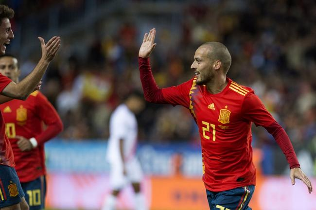 热身-莫拉塔进球西班牙5-0胜