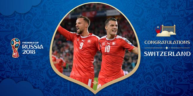 瑞士晋级世界杯
