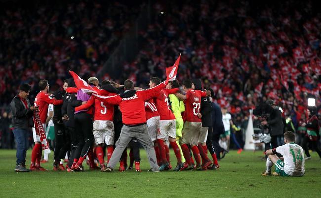 附加赛-瑞士险平北爱尔兰晋级 克罗地亚客平出线