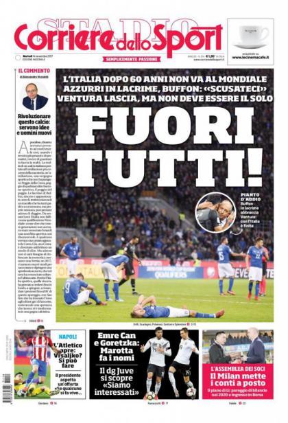 《罗马体育报》:全体出局!