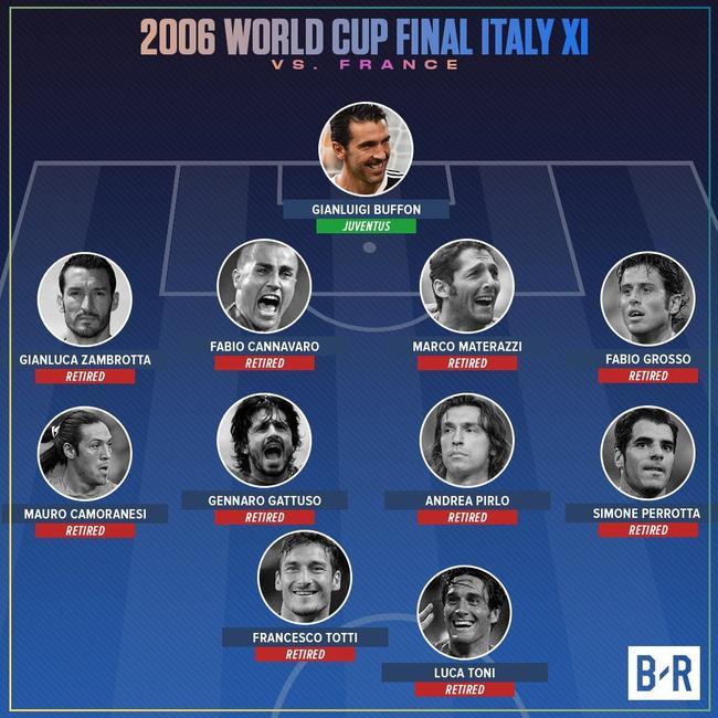 意大利当年决赛的首发11人
