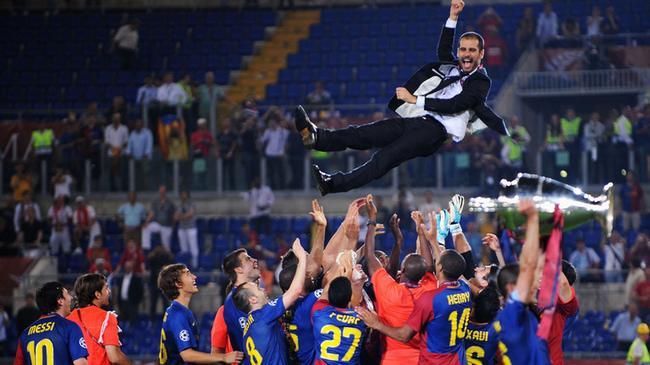 瓜帅带领的巴萨成为西班牙夺得世界杯冠军的主力军
