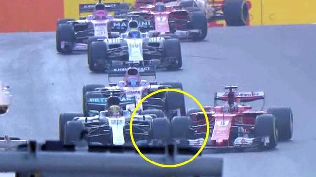 F1阿塞拜疆站维特尔故意撞向汉密尔顿