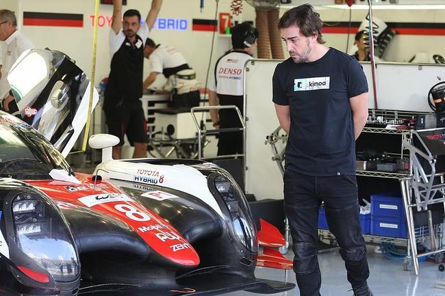 阿隆索与丰田LMP1赛车
