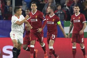 93分钟丢球 利物浦3-0领先3-3平塞维利亚