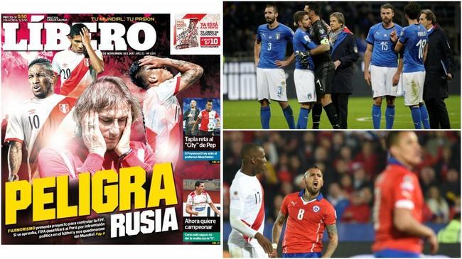 曝秘鲁恐被取消世界杯资格 意大利又有机会了?