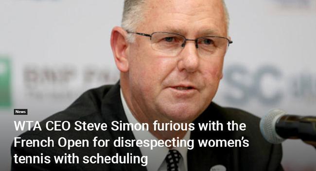 WTA始席实走官兼主席斯蒂夫·西蒙