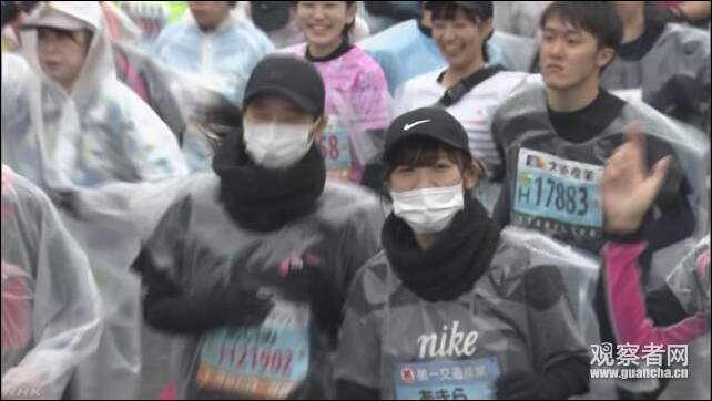 北九州市马拉松比赛现场 NHK视频截图
