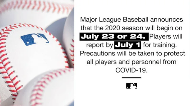 美国职业棒球大联盟:31名球员感染新冠病毒