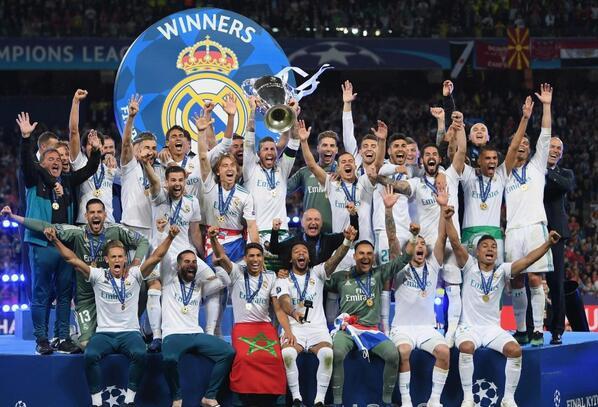 皇马刚拿下欧冠三连冠