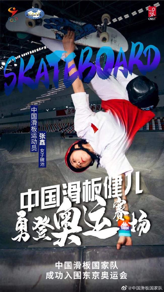 張鑫(圖片來源:中國滑板國家隊)