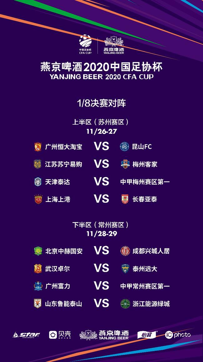 2020中国足协杯举行第二阶段抽签 8场超甲大战落位