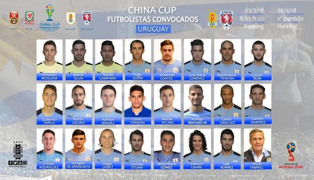 乌拉圭中国杯大名单:苏神领衔