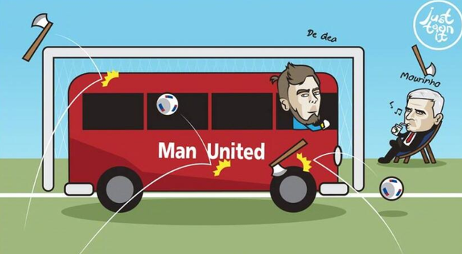 曼联门前有一辆大巴——德赫亚