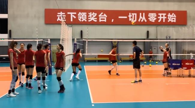 中國女排部分隊員在北京集訓