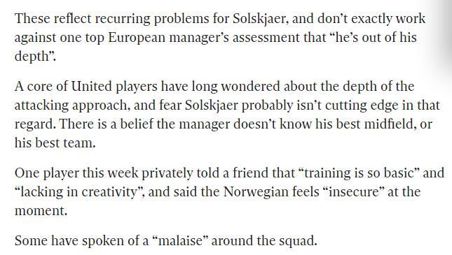 英报:曼联球员开始质疑索帅训练 能力真不如穆帅