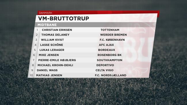 丹麦中场名单