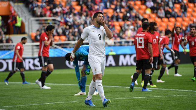 世界杯-乌拉圭半场暂平埃及