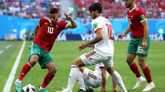 世界杯-伊朗半场战平摩洛哥