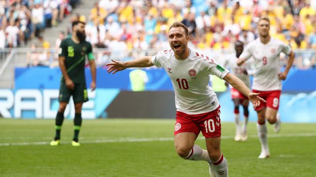 世界杯-埃里克森爆射破门 丹麦1-1战平澳大利亚