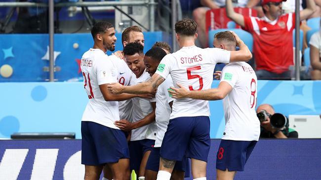 世界杯-凯恩帽子戏法铁闸2球 英格兰6-1大胜出线