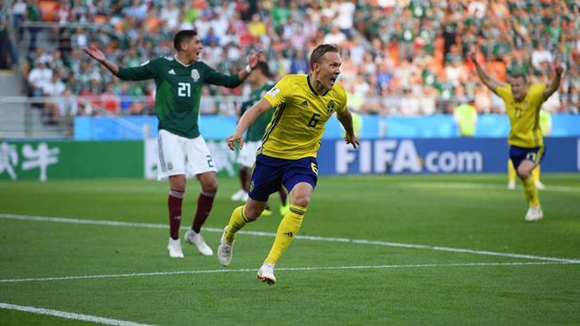 世界杯-瑞典3-0完胜跃升头名 墨西哥输球仍出线
