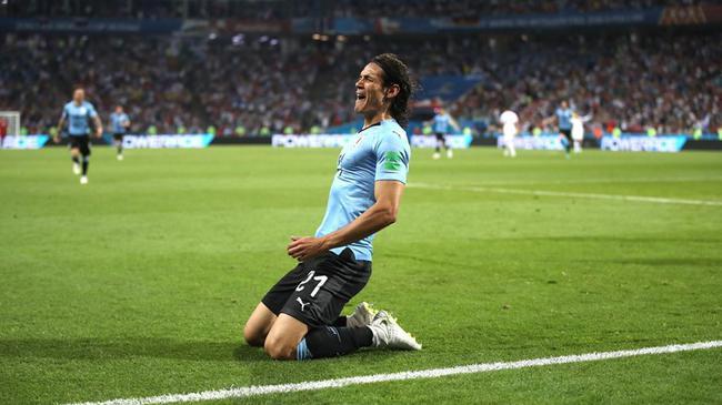世界杯-卡瓦尼2球 C罗哑火 乌拉圭2-1淘汰葡萄牙
