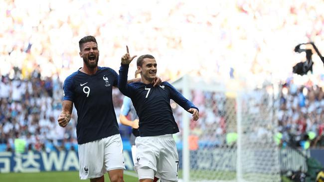 格里兹曼之前对阿根廷进球非常开心